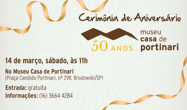 Cerimônia de Aniversário do Museu Casa de Portinari