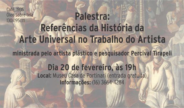 Palestra: Referências da História da Arte Universal no Trabalho do Artista