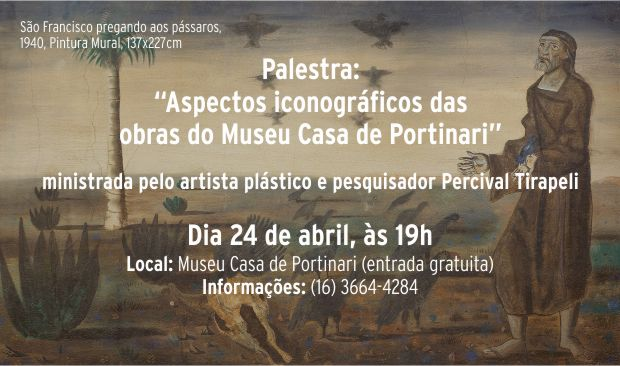 "Palestra: ""Aspectos iconográficos das obras do Museu Casa de Portinari"""