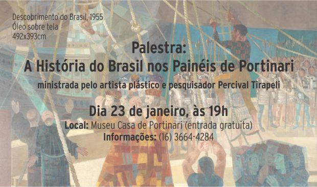 Palestra A História do Brasil nos Painéis de Portinari